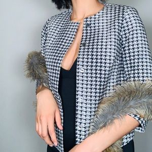 The Limited Scandal Edition Houndstooth Blazer